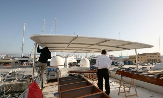 Portfolio MY Atlantic Goose Marine Upholstery Mallorca